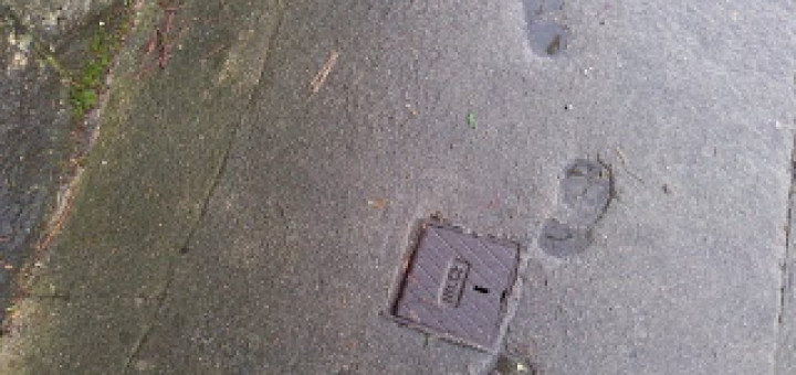 footprints mark time