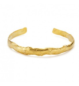 Bark Bangle in Gold