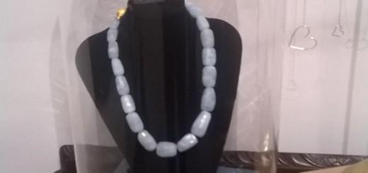 aquamarine stone necklace by momuse jewelry, ireland