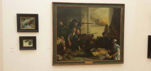 thomas ryan paintings – easter rising at rha varnishing exhibit