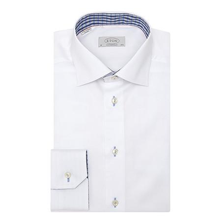ETON cotton shirt brown thomas
