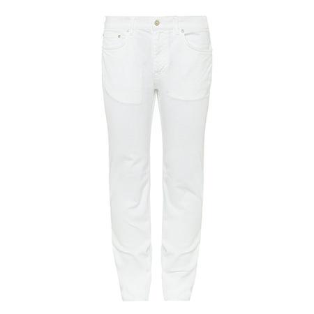 Acne Studios Slim Denim Jeans Brown Thomas
