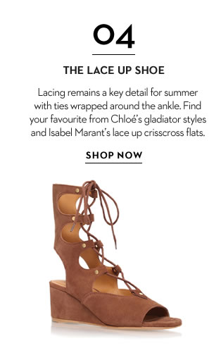 The lace up shoe