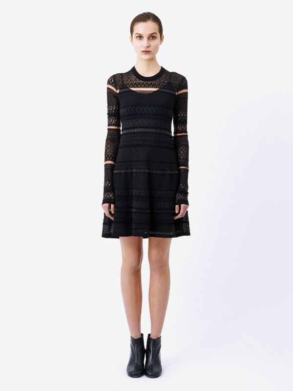 Geometric Lace Skate Dress