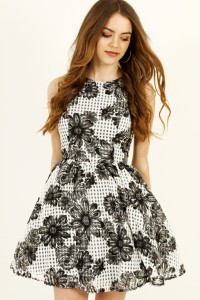taylor swift type dress monochrome