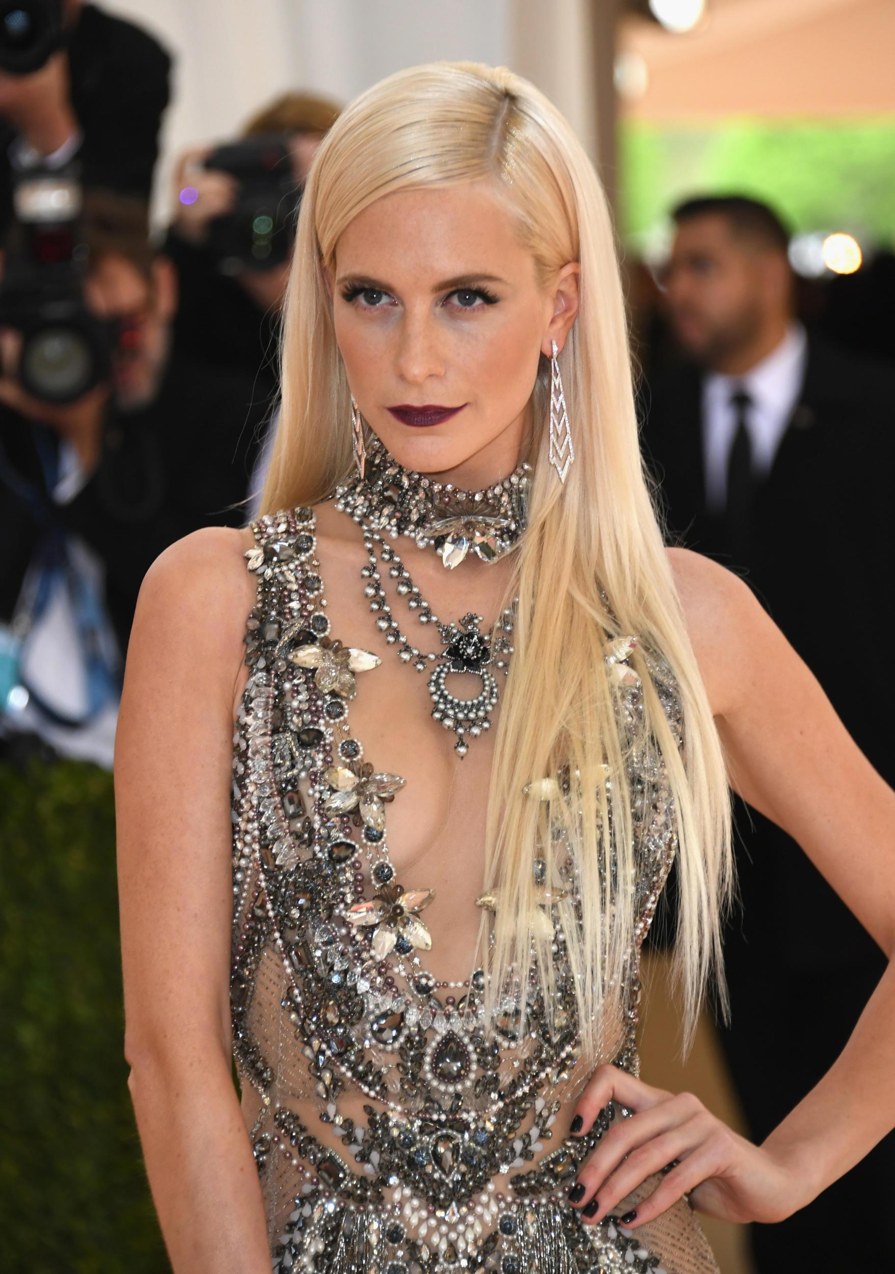 poppy delevingne platinum hair, 2016 met gala dresses