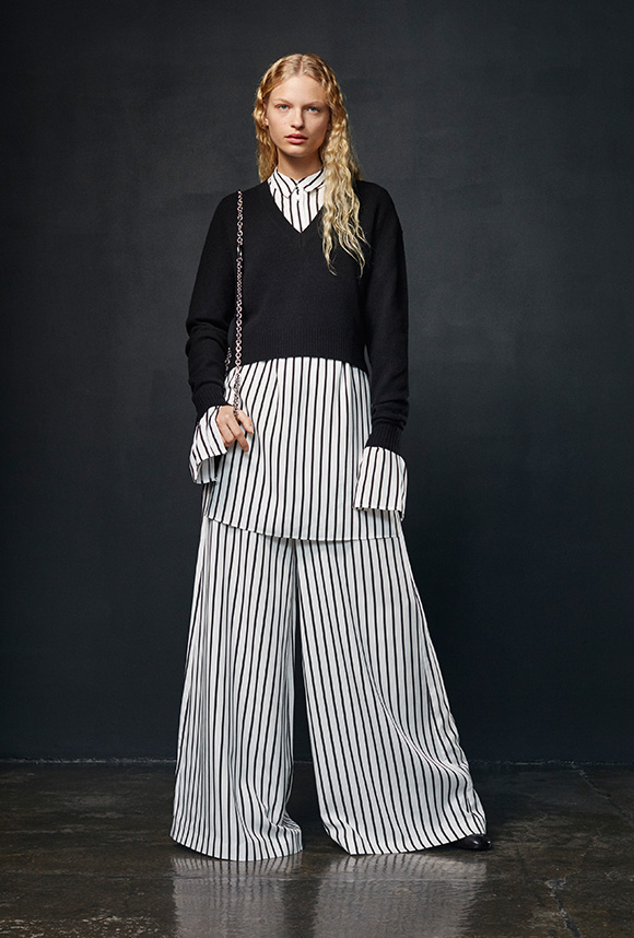 Striped Japanese Pant