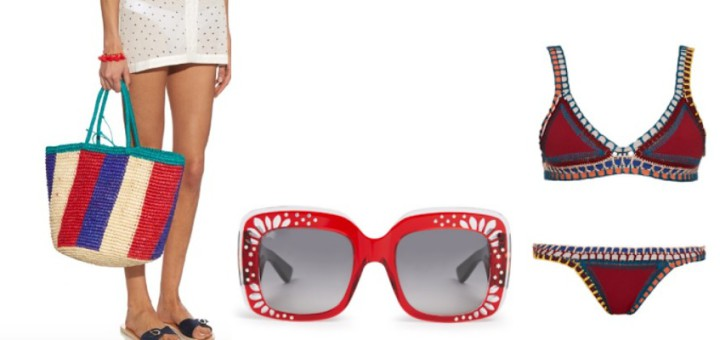 red hot beach looks with matchesfashion.com