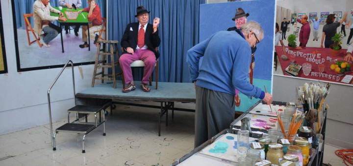 Daiv Hockney RA Barry humphries