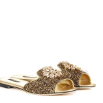 Dolce and Gabbana Gold slippers