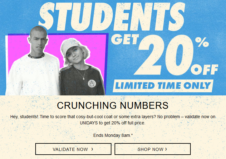 119b5a2ef9d Students get 20% off ASOS for three days only! - Pynck