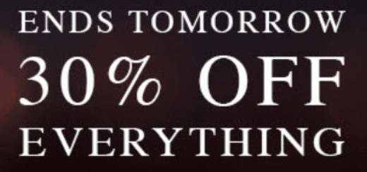 allsaints ends tomorrow   30% off everything