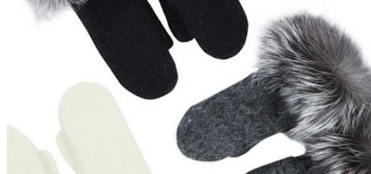 pink tartan fur trimmed mittens now $65