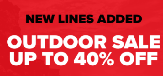 outdoor sale continues – new lines added