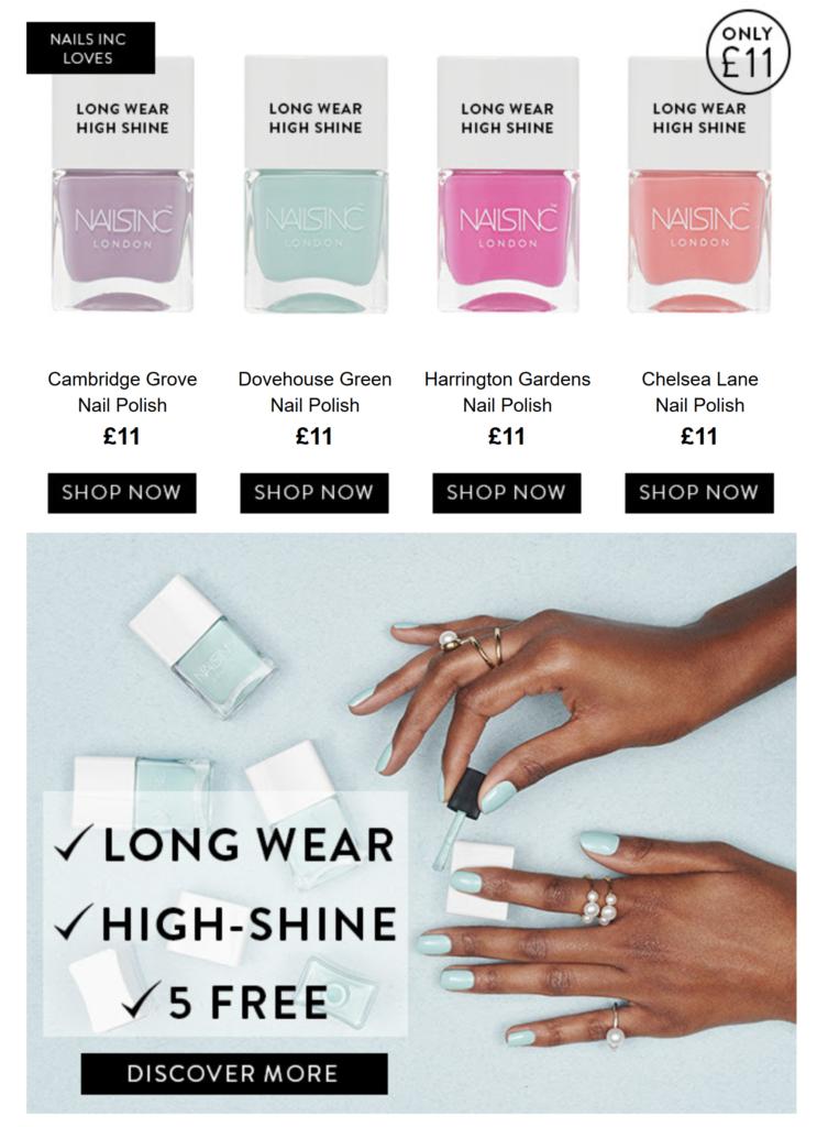 New in: Long wear nail polish