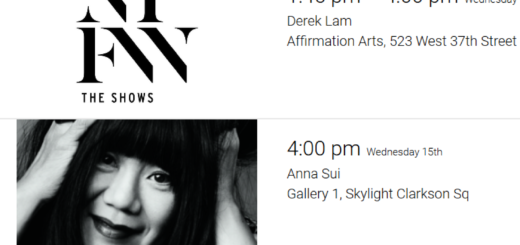 london fashion week – february 15th schedule