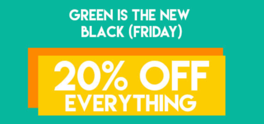 20% off – green is the new black (friday)