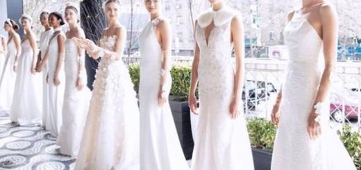 bridal fashion week: top three looks so far