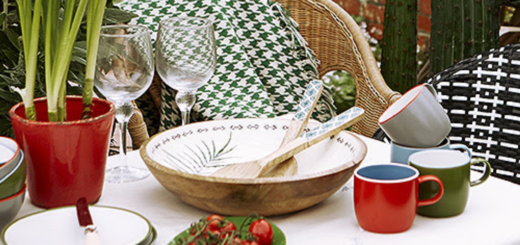 colourful outdoor dining from carolyn donnelly