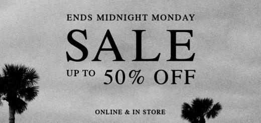 allsaints sale – ends midnight tonight!