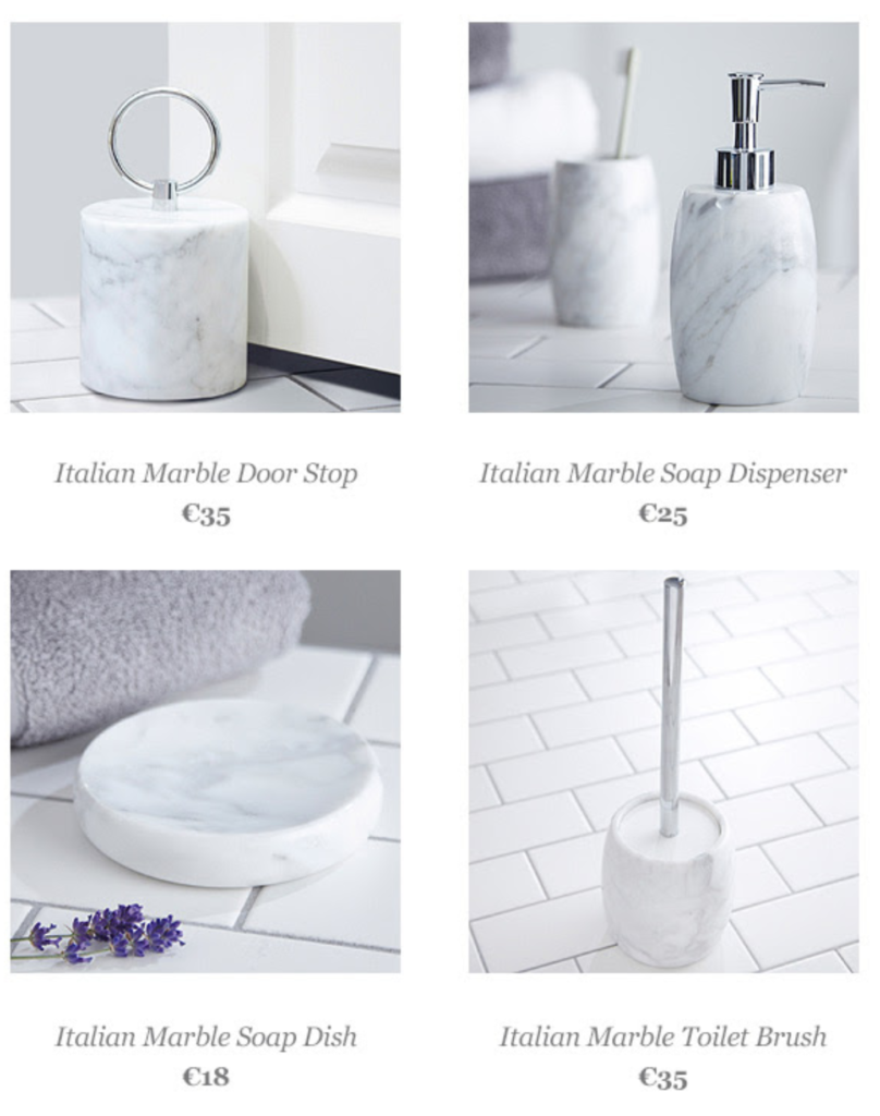 Francis Brennan introduces his Italian Marble bathroom range - Pynck