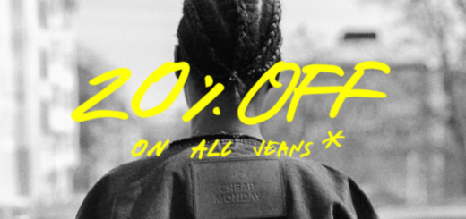 cheap monday 20% off on all jeans – starting now!