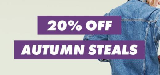 asos – 20% off autumn steals