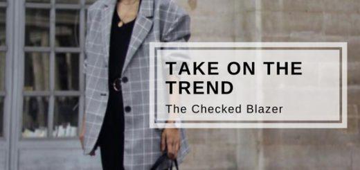 trend talk: the checked blazer