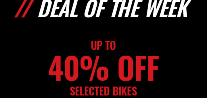 cyclesurgery deal of the week! up to 40% off selected bikes!