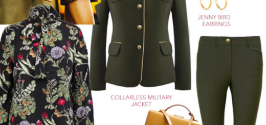 pink tartan – kim is loving a military moment!
