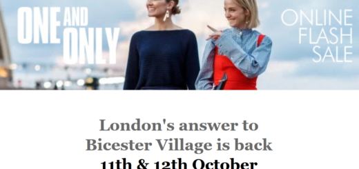 one and only – london's answer to bicester village is back :)
