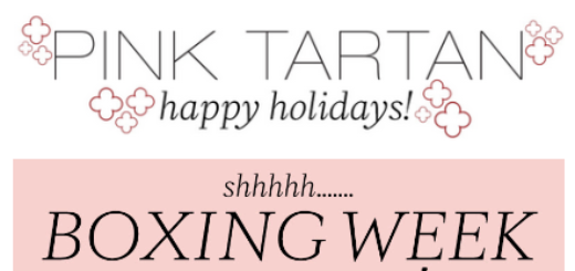 pink tartan – shhh… boxing week starts now!