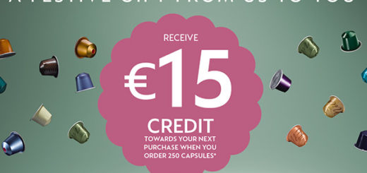 nespresso  – our gift to you, €15 account credit