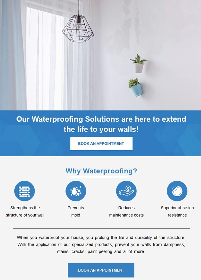 Asian Paints - Prevent the deterioration of your walls with our Waterproofing solutions