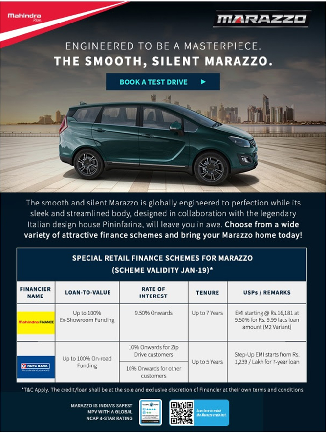 Mahindra Marazzo - Globally Engineered to Perfection.