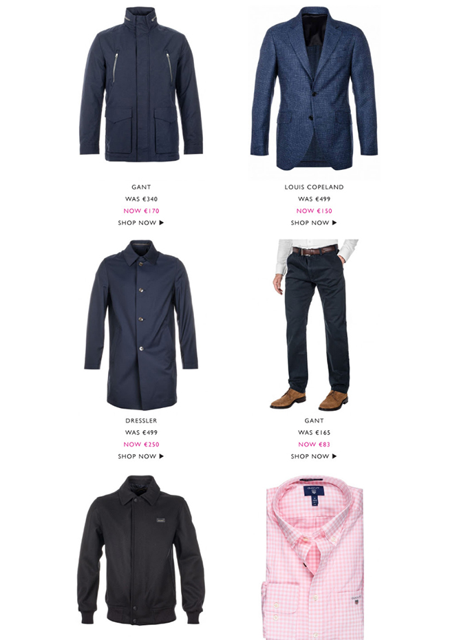 Louis Copeland & Sons - Be Quick - 50% - 70% Off All Sale Items
