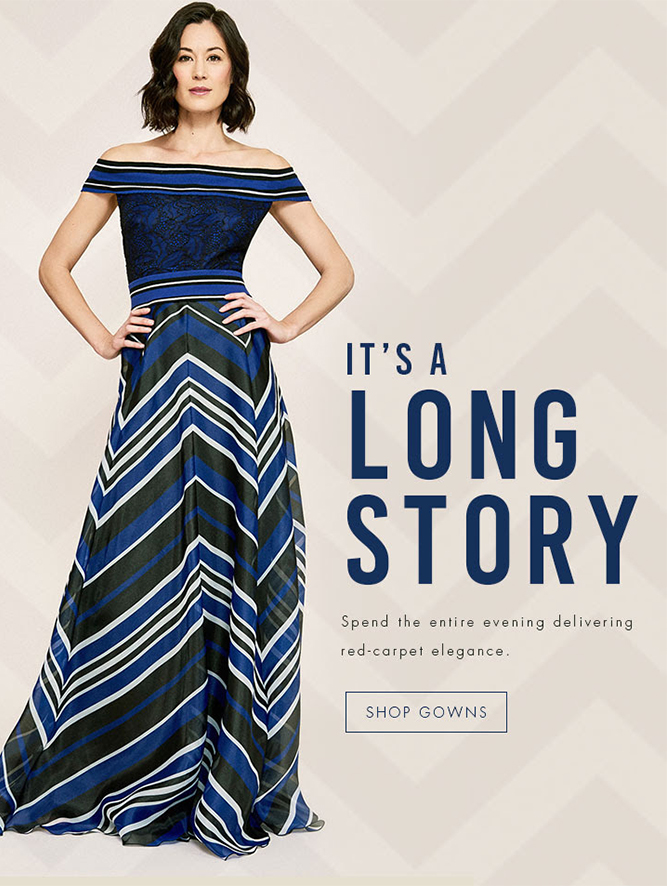 Tadashi Shoji Online - It's a long story