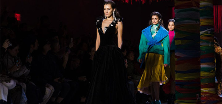 nyfw: the shows – bella hadid closes the runway for prabal gurung