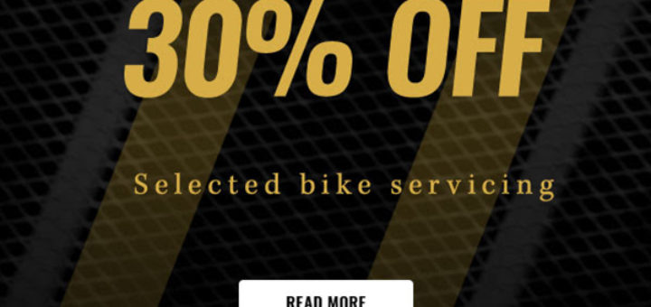 cycle surgery – enjoy 30% off bike servicing this month only