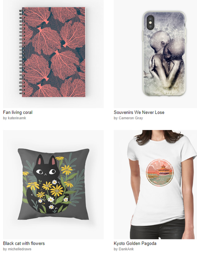 Redbubble - 20% off sitewide. Just the way you like it