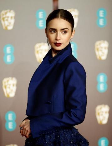 d1a90581393 LANCÔME AMBASSADOR LILY COLLINS – EE BAFTA 2019