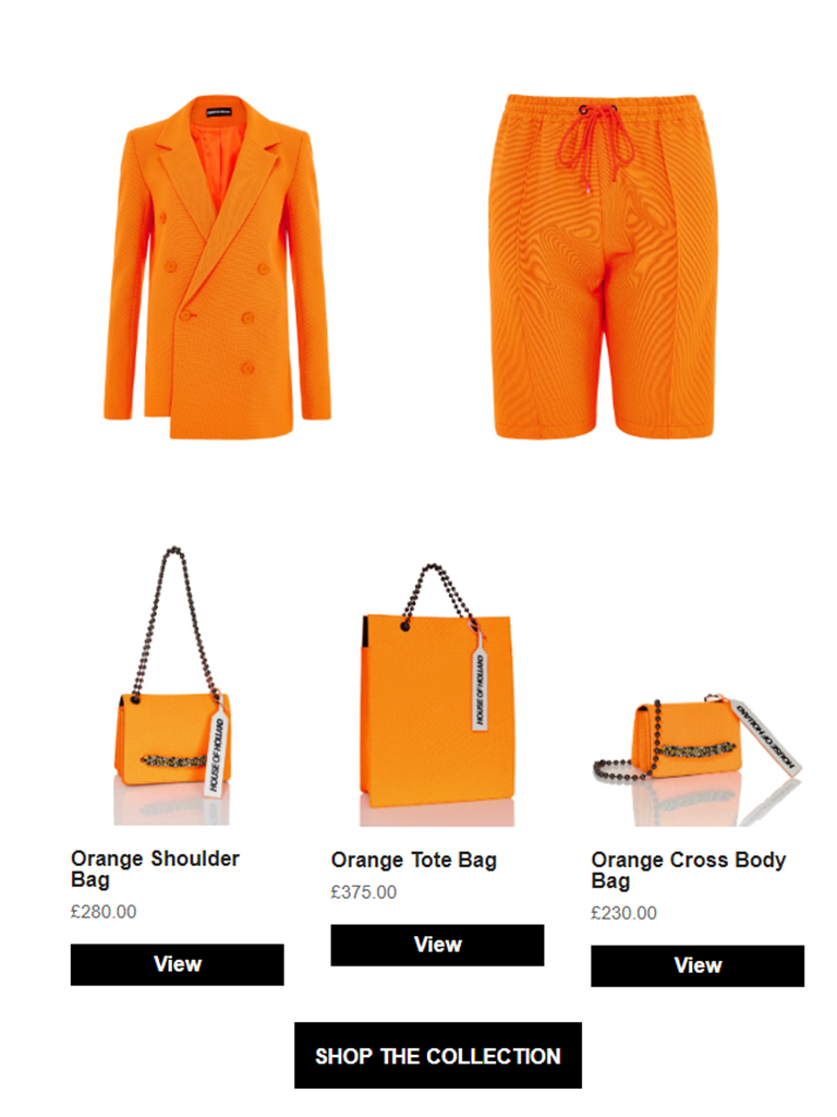 House of Holland - On Sunday's We Buy Orange!!