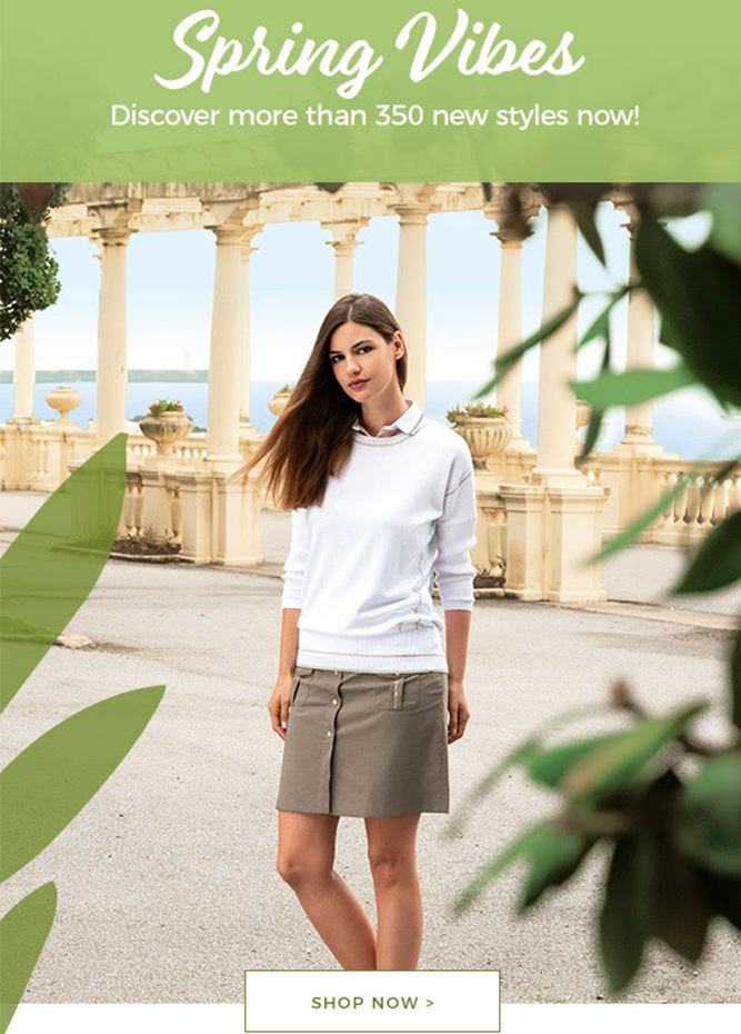 GOLFINO News - Get these looks now! - More than 350 new styles!