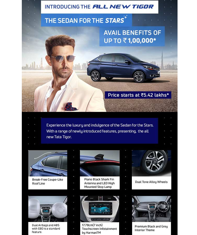TATA Tigor - Big Benefits Up To Rs. 1,00,000 on TATA Tigor!