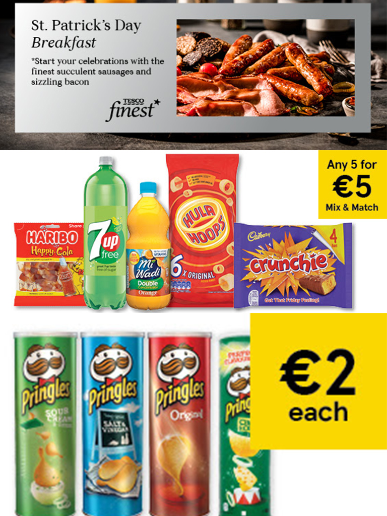 Tesco Ireland - St. Patricks's Day offers worth cheering about