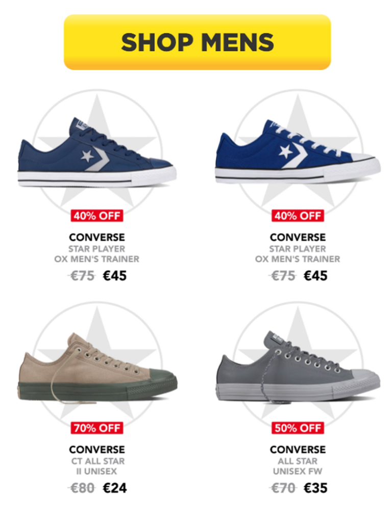 Intersport Elverys - Up to 70% Off Converse SALE! - Pynck