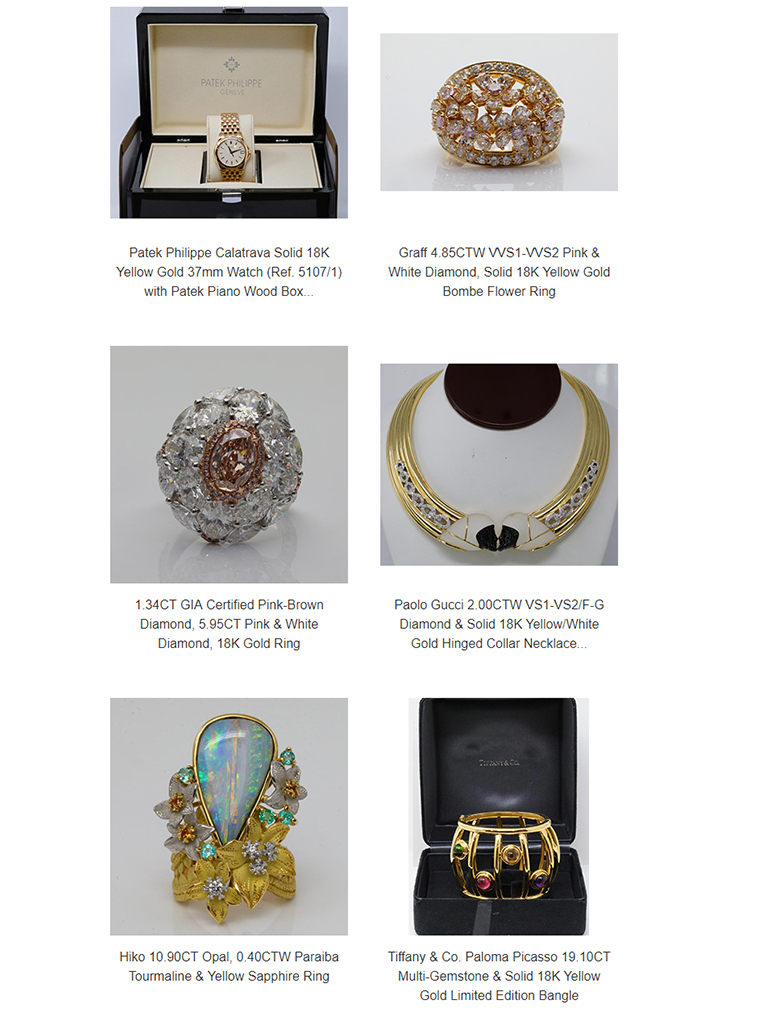 Upcoming on Invaluable - Royal Artifacts, Fine Jewelry & Timepieces - GWS