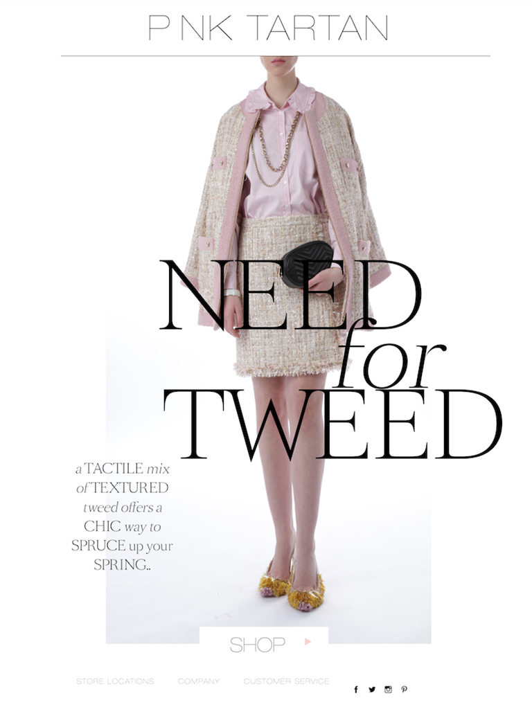 PINK TARTAN - NEED FOR TWEED
