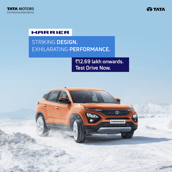 Tata Harrier - With Land Rover pedigree, this SUV is Above All.