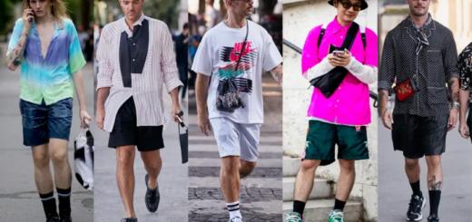 loose, sporty shorts were a street style staple at paris fashion week men's